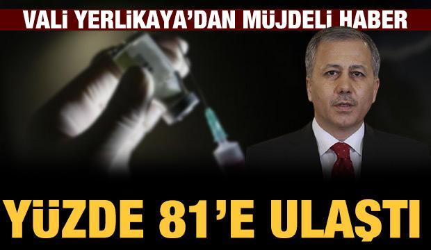 İstanbul Valisi: 65 yaş üstünde aşılama oranı yüzde 81,2'ye ulaştı
