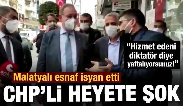 Malatya'da CHP heyetine esnaftan tepki