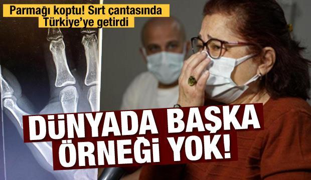 Malta'da kopan parmağını sırt çantasında Türkiye'ye getirdi