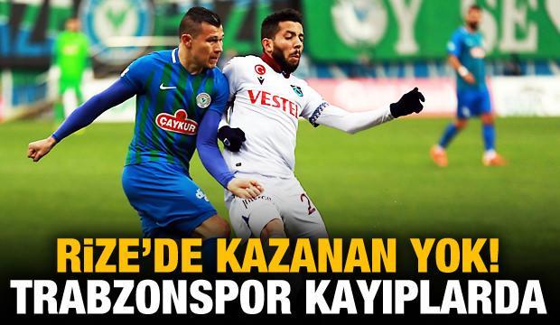 Rize'de kazanan yok! Trabzonspor kayıplarda