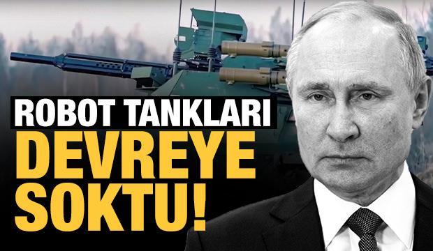 Rusya 'Robot Tanklar' ile gözdağı verdi!