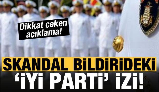Skandal bildirideki 'İYİ Parti' izi!
