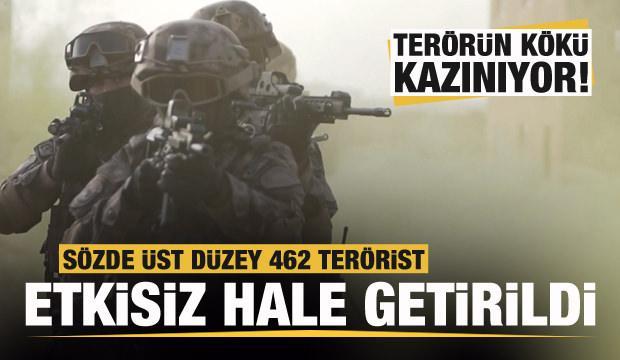 Terörün kökü kazınıyor! Sözde üst düzey 462 terörist öldürüldü