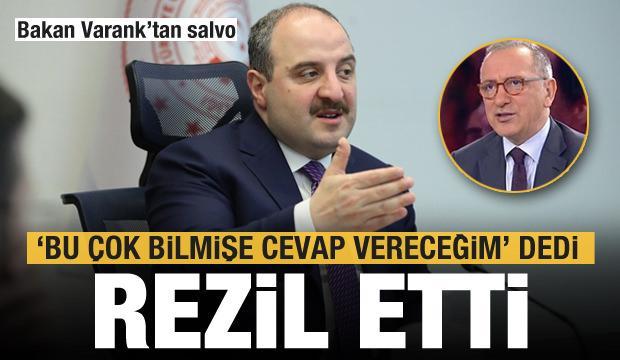 Bakan Varank, 'Bu çok bilmişe cevap vereceğim' deyip Altaylı'yı rezil etti