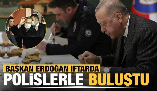 Başkan Erdoğan polislerle iftar yaptı