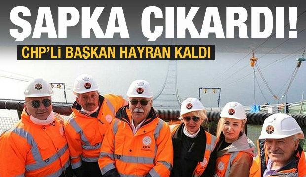 CHP'li başkan hayran kaldı! Köprüyü görünce şapka çıkardı