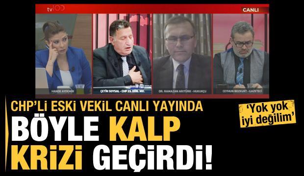 CHP'li Soysal canlı yayında kriz geçirdi! İşte o anlar...