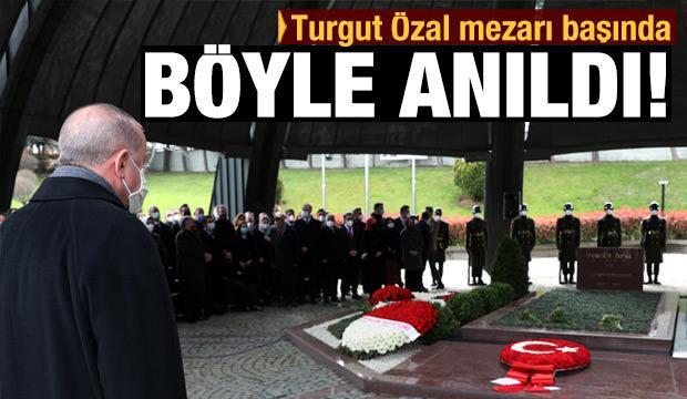 Cumhurbaşkanı Erdoğan Turgut Özal'ın anmasına katıldı