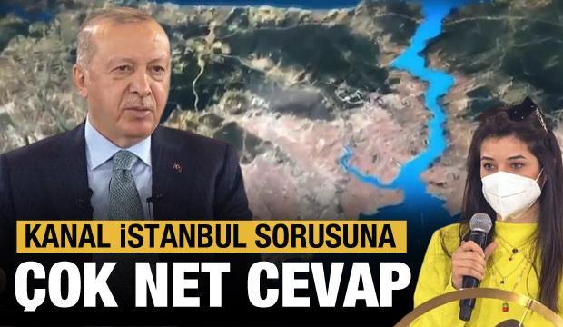 Erdoğan, gençlerle buluştu! Kanal İstanbul sorusuna cevap verdi