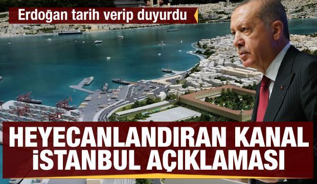 Erdoğan'dan Kanal İstanbul açıklaması: İlk köprünün yapımı Haziran'da başlıyor