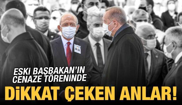 Eski Başbakan Yıldırım Akbulut'un cenaze töreninde dikkat çeken anlar