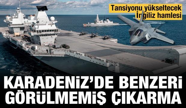 Karadeniz'de benzeri görülmemiş çıkarma! Tansiyonu yükseltecek İngiliz hamlesi