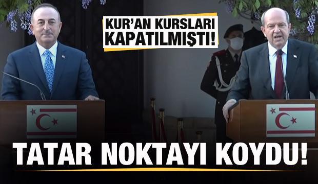 KKTC Cumhurbaşkanı Tatar'dan son dakika Kur'an Kursu açıklaması