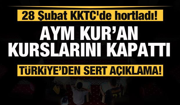 KKTC'de Kur'an kursları kapatıldı! Türkiye'den sert tepki!