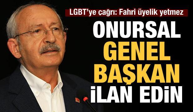 LGBT 'ye çağrı: Kılıçdaroğlu'nu onursal genel başkan ilan edin