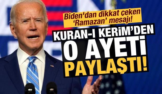 Son dakika: Joe Biden'dan dikkat çeken Ramazan mesajı! Nûr Suresi'nden 35. ayeti paylaştı