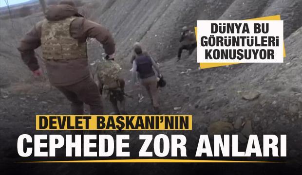 Ukrayna Devlet Başkanı Zelenski'nin cephede zor anları