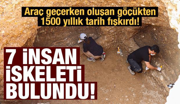 Adıyaman'da göçük oluştu, 7 insan iskeleti bulundu!