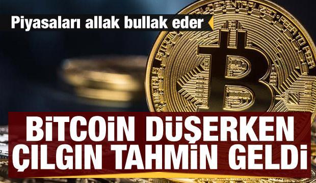 Bitcoin düşerken çılgın tahmin geldi! Piyasaları allak bullak eder