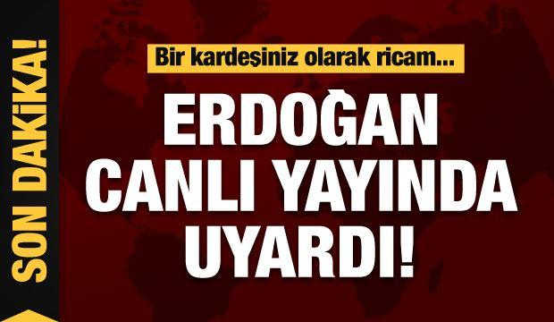 Erdoğan'dan cami cemaatine uyarı