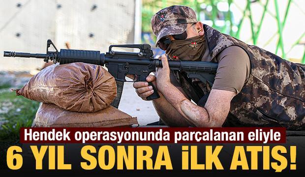 Gazi polis, nakilli eliyle 6 yıl sonra ilk atışını yaptı!
