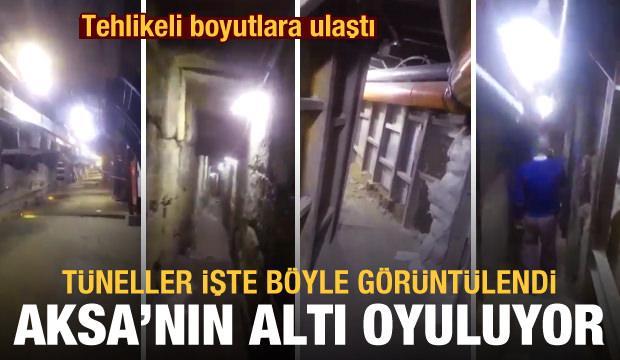İsrail Mescid-i Aksa'nın altını oyuyor: Tüneller işte böyle görüntülendi