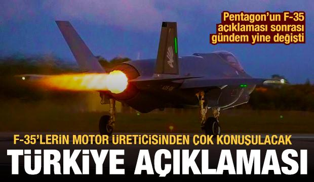 F-35'lerin motor üreticisi: Türkiye'nin projeden çıkarılması motor maliyetini artırdı