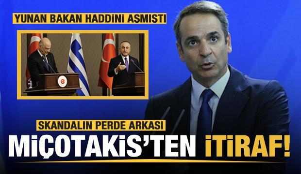 Skandalın ardından Miçotakis'ten açıklama! itiraf etti