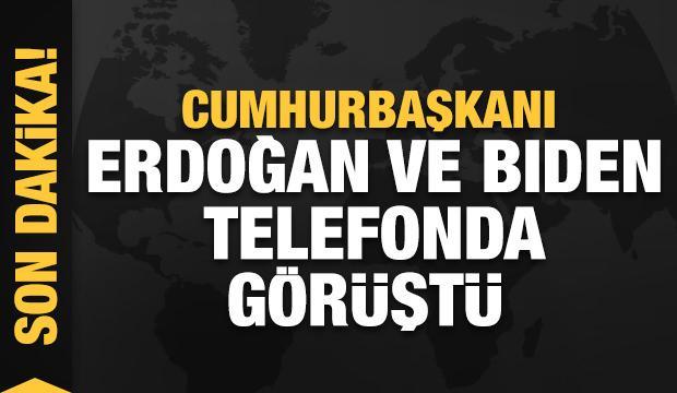 Son Dakika... Başkan Erdoğan ve Joe Biden telefonda görüştü