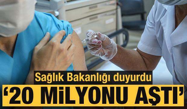 Son dakika... Sağlık Bakanlığı duyurdu: Uygulanan aşı miktarı 20 milyonu aştı