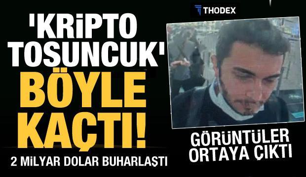 Thodex'in kurucusu Faruk Fatih Özer'in havalimanından çıkış görüntüleri