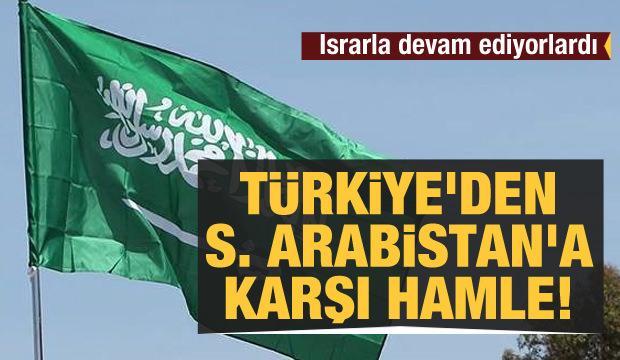 Türkiye'den Suudi Arabistan'a karşı hamle!