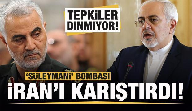 'Süleymani' bombası İran'ı karıştırdı! Tepkiler dinmiyor