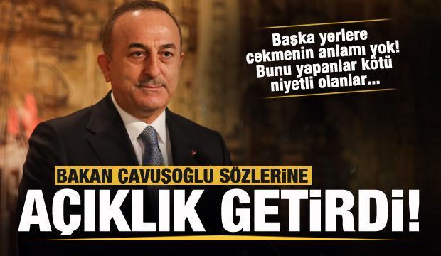 Bakan Çavuşoğlu'ndan aşı açıklaması: Bunu başka yerlere çekmenin anlamı yok!