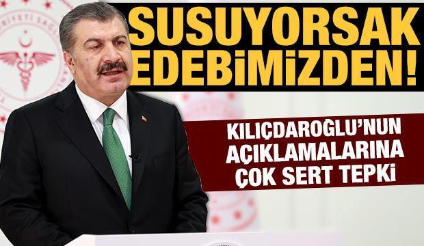 Bakan Koca'dan Kılıçdaroğlu'na tepki: Susuyorsak edebimizden!