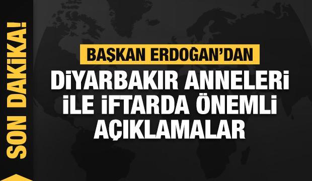 Başkan Erdoğan Diyarbakır annelerini kabul ettiği iftar programında konuşuyor