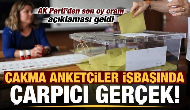 Çakma anketçiler işbaşında! AK Parti'den 'son oy oranı' açıklaması geldi