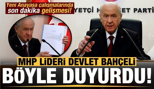 Devlet Bahçeli'den son dakika 'yeni anayasa' açıklaması!