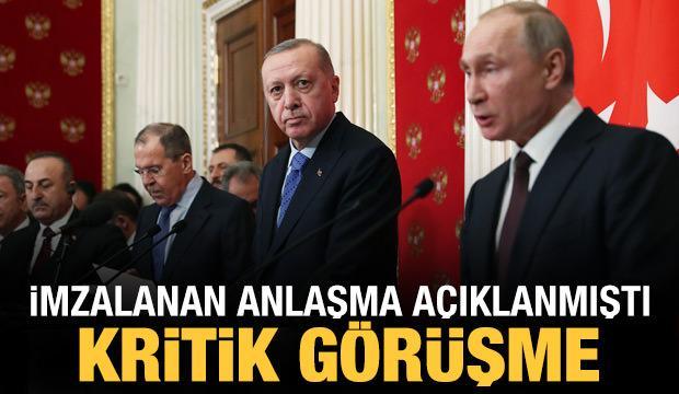 Erdoğan ile Putin arasında önemli görüşme