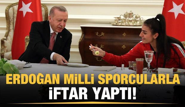 Erdoğan milli sporcularla bir araya geldi!