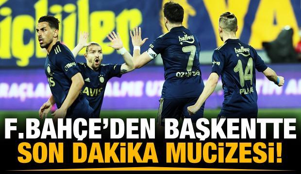 Fenerbahçe'den son dakika mucizesi!