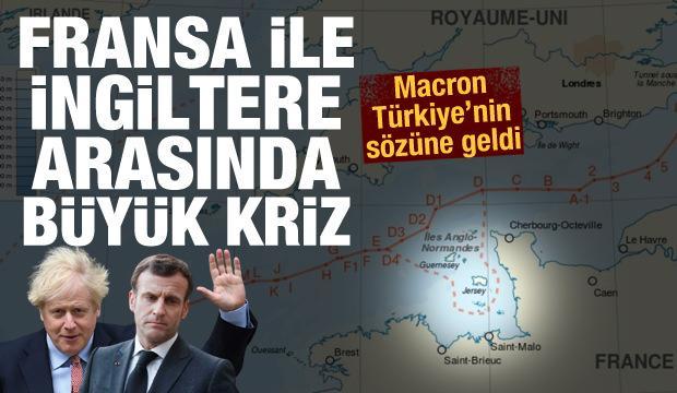 İngiltere ile Fransa arasında büyük kriz! Macron Türkiye'nin sözüne geldi