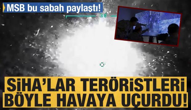 PKK'ya SİHA'lar darbeyi vurdu! MSB'den açıklama