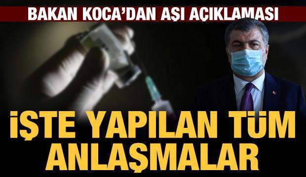 Son dakika haberi: Bakan Koca'dan mutasyon ve aşı açıklaması