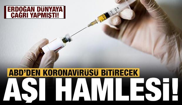 Son dakika haberi: Koronavirüsü bitirmek için ABD'den bomba hamle!