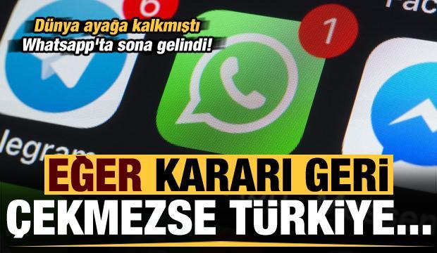 Son dakika: Whatsapp'ta sona gelindi! Eğer kararı geri çekmezse Türkiye...