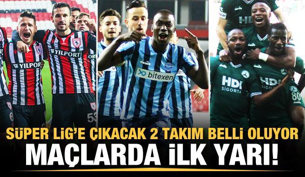 Süper Lig'e çıkacak 2 takım belli oluyor! CANLI
