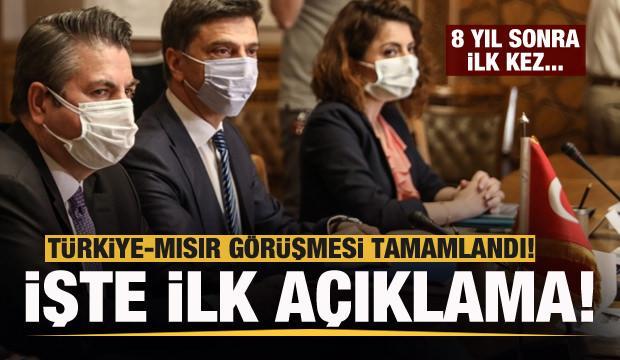 Türkiye-Mısır görüşmesi tamamlandı! İşte ilk açıklama!