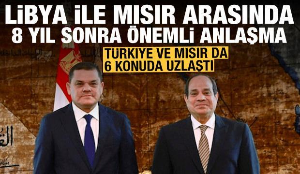 Türkiye ve Mısır 6 başlıkta uzlaştı! Libya ile Mısır arasında da 8 yıl sonra anlaşma
