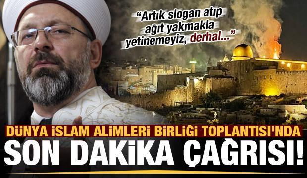 Ali Erbaş'tan son dakika çağrısı: Artık slogan atıp ağıt yakmakla yetinemeyiz...